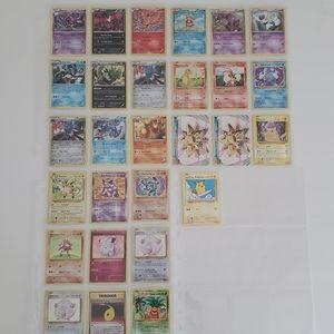 Lot of 28 Rare and Holo Pokémon Cards